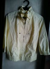 OLD NAVY WOMEN'S 3/4 SLEEVE SWING RAIN JACKET-Pale Yellow, Medium