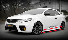 Side Lip Bumper SPEC-1 UNPAINTED 2p 1Set For 09 12 Kia Forte Koup : Cerato Koup