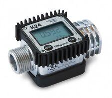 """Piusi K24 Aluminium Fuel Flow Meter digital fuel turbine meter, 1"""" MxF"""