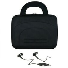 "Black Cube Series Hard Shell Carry Case For iPad Air / 9"" ~ 10"" Tablet +Earphone"