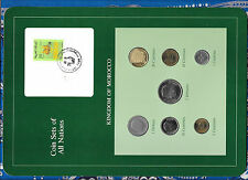 Coin Sets of All Nations Morocco UNC 1974-1987 5 Dirhams 1980 5,10 Santimat 1987