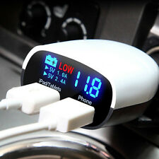 Car Charger Led Screen Dual Usb 3.4a For Mobiles & Tablets with Voltage Monitor