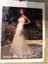 Casablanca Wedding Dress -  1975 - Size 12 - Ivory/ Champagne