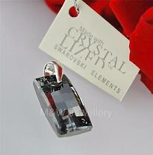 PENDANT SWAROVSKI Elements URBAN SILVER NIGHT AB 20mm Sterling silver 925