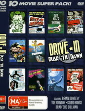 10 movie super pack DRIVE IN DUSK 'TIL DAWN sealed NEW DVD 2- dvd set