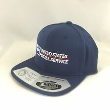 USPS Snapback Cap United States Postal Service Adjustable Hat 110 Flexfit Navy