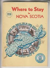 1950 BOOKLET - WHERE TO STAY IN NOVA SCOTIA