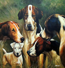 "OIL PAINTING ""FRIENDS OF ALL BREEDS"" BY KIMBERLY GOODSON **HELP SAVE ANIMALS**"