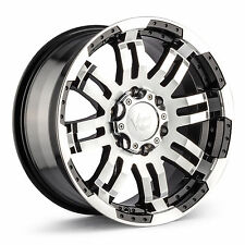 "17"" Vision Warrior Black Machined Face Wheel 17x8.5"" 6x5.5 25mm Chevy GMC Toyota"