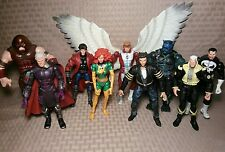 "Mixed Hasbro 6"" Figure Lot X-Men Angel Juggernaut Gambit Beast Marvel Legends J"