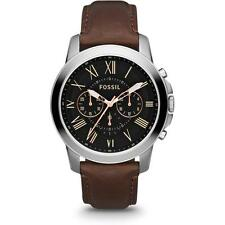 Fossil Summer 2013 Men's 44mm Brown Calfskin Stainless Steel Case Watch fs4813