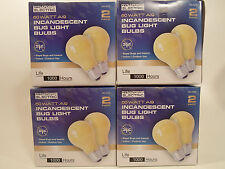 Yellow Bug Light Bulb 60W Watt 8 Pack Outdoor or Indoor Porch Non-attracting 60