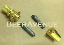 Gold Beer tap handle Ferrule + Finial + 2 hanger bolts