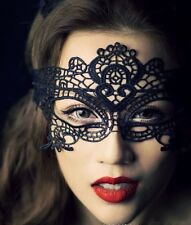Sexy Black Lace Fancy Dress Outfit Masquerade Eye Face Mask Costume Accessory