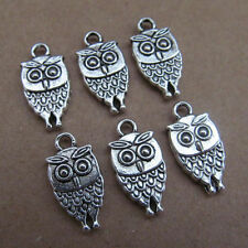 20pc Tibet Silver Charm double swing bead owl animal parts wholesale PL031