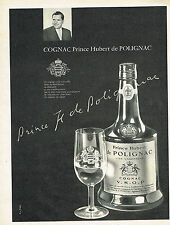 PUBLICITE ADVERTISING 0314   1959   PRINCE HUBERT DE POLIGNAC  cognac