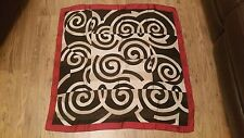Windsmoor geometric pattern women's silk scarf black/red/white 34 inches square