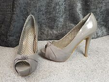 Next Grey Party Evening Occasion Cocktail High Peep Toe Heel Shoes Size 39 UK 6