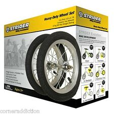 "Strider 12"" Aluminum Wheel with Pneumatic Tires Set of 2"