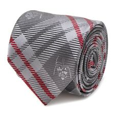 Star Wars Darth Vader Grey and Red Plaid Men's Tie Free Shipping
