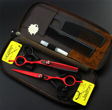 6.0 inch Pro Hairdressing Scissors Set Barber Hair Cutting+ Thinning Shears Kits