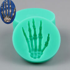 Halloween Skeleton Hand Mold Zombie Fondant Cake Silicone Moulds Cupcake Sugar