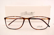 New Silhouette Eyeglass Frames SPX ILLUSION 2888 6051 Brown Women Men SZ 55