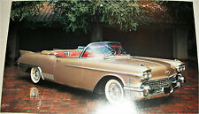 1958 Cadillac Biarritz Convertible car print  (gold, no top)