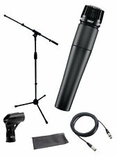 Shure*SM57-LC+STAND+CABLE*Microphone Bundle Boom Stand &  XLR Cable FREESHIP NEW