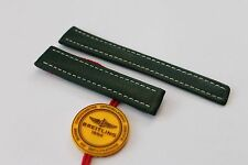 100% Genuine New Breitling Green Calf Leather Deployment Strap 18-16mm Fitting.