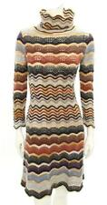 Missoni Sport Vintage Wool Knit Turtleneck Sweater Dress Size 44