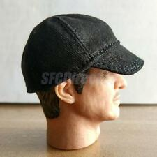 "1/6 Scale Men's Black Baseball Cap Hat Model For 12"" Action Figure Body Toy"
