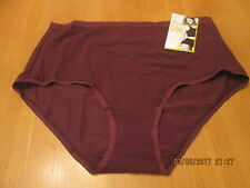 Marks & Spencer burgundy cotton rich full brief knickers size 14