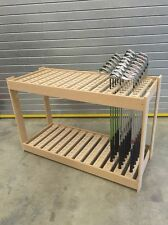 GOLF SHOP RETAIL FREESTANDING DISPLAY HOLDS 108 GOLF CLUBS/ FULLY ASSEMBLED!