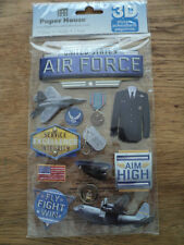 PAPER HOUSE AIRFORCE 3D STICKERS BNIP *NEW*