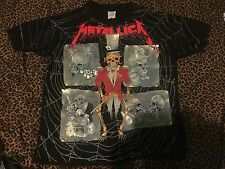 VINTAGE METALLICA ROCK T SHIRT 1992 DAMAGE INC PUSHEAD  XL fear of god fog