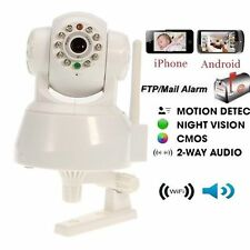 Webcam New Wireless IP Camera two Way Audio Wifi Network DDNS US Warranty White