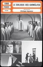 FICHE CINEMA : LE DIALOGUE DES CARMELITES - Moreau,Valli,Renaud,Brasseur 1960