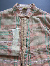 NOA NOA CHECKED OVER COAT DRESS SMALL JACKET MANDARIN COLLAR VINTAGE ACCM738