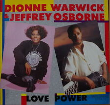 "DIONNE WARWICK/JEFFREY OSBORNE/BACHARACH LOVE POWER MAXI 45T 12"" GERMAN PRESS LP"