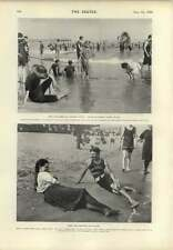1899 Coney Island junto al mar Resort Staten Island Beach Scene