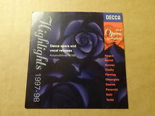 SINGLE CD / DECCA OPERA AND VOCAL RELEASES - HIGHLIGHTS 1997-98