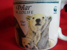 cup mug World Wildlife Federation polar bear harp seal wolf emperor penguin