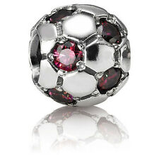 Authentic Pandora Charm Soccer Ball Red CZ #790444CZR *Retired*