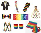 80s Pride Gay Rainbow Clown Accessories Fancy Dress 1980s Sets