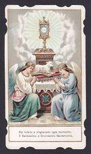 SANTINO 89 EUCARISTIA - HOLY CARD IMMAGINETTA RELIGIOSA IMAGE PIEUSE MILANO 1917