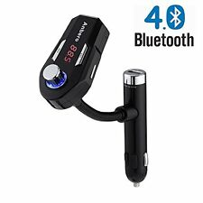 Anbero FM25 Bluetooth Car FM Transmitter with Dual 5V/2.4A USB Charging,Music &