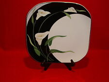 "Sango Quadrille Black Lillies #5101 11 1/2"" Serving Platter Good Condition"