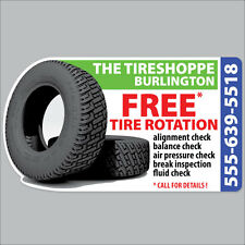 100 Fully Customized Tire Rotation Reminder Sticker Static Cling Low Tack Vinyl