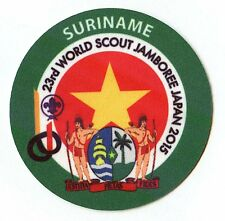 23rd world scout jamboree SURINAME Contingent badge 2015